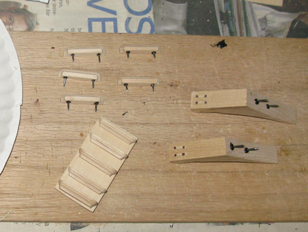 Getting the steps and catheads ready. Glad I didn't have to make these from scratch.