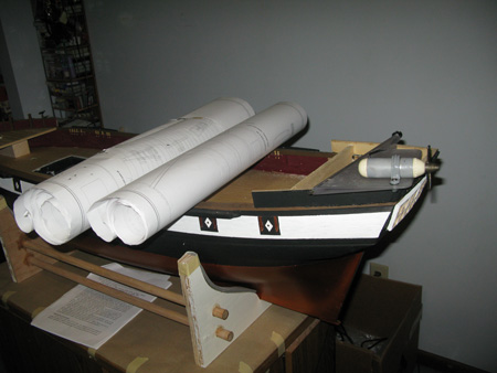 Getting things ready for the rudder.