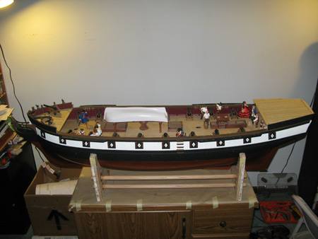 The Theresa Marie is coming along.  She needs some masts.