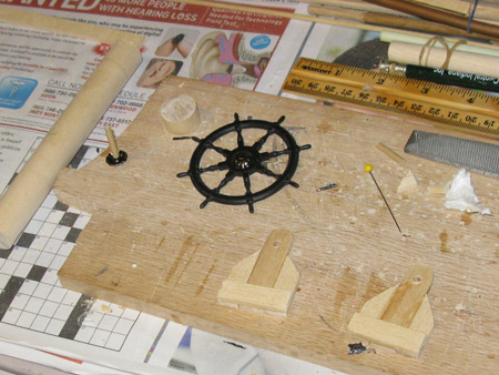 Making the wheel assembly.