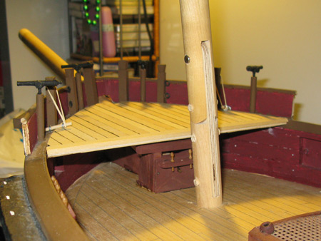 Bowsprit bitts with forecastle in place.