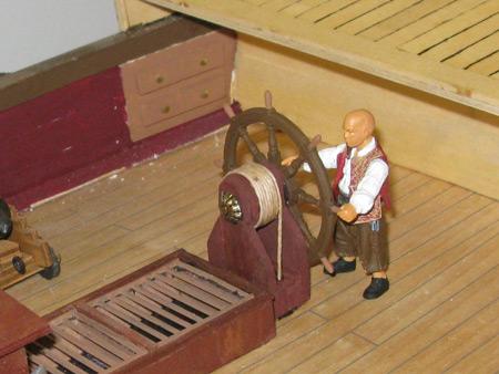 Shipwright Marty finally has a wheel to man.
