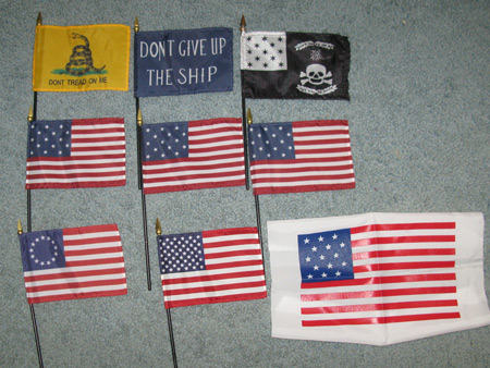 Philly was the jackpot for historical flags.  Oh say can you see...