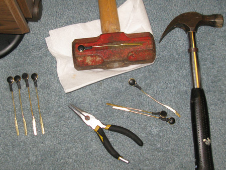 Used some old but special tools for working the brass.