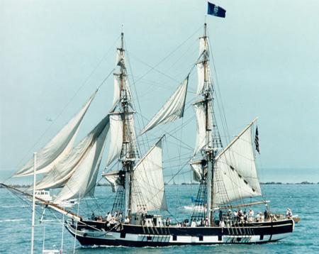 The brig Pilgrim