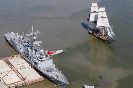 The brig Niagara and USS De Wert