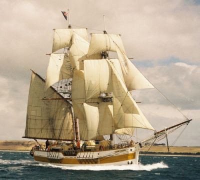 The brig Lady Nelson