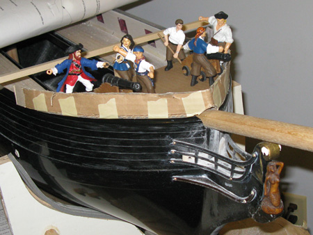 Extending the forecastle from 4 1/2 inches to a more gun friendly 7 1/2 inches.  Many details to work out before I proceed.