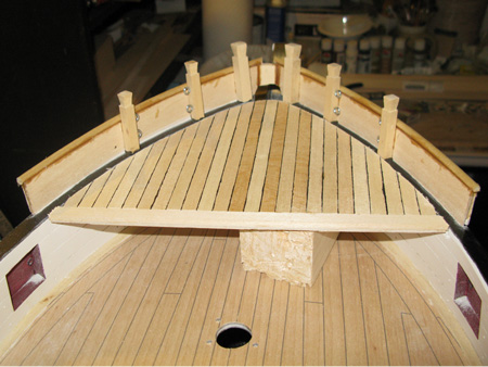 We now have the basis for a proper sized (15 feet long) forecastle.